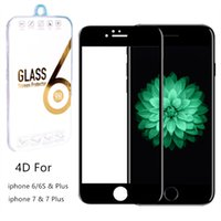 Wholesale Seamless Screen - For iphone 7 7 Plus,3D 4D Curved Seamless Screen Protector Full Coverage HD Clear Tempered Glass Film for iPhone 6 6s Plus