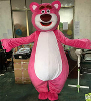 Wholesale High Quality Bear Suits - Lovely pink LOTSO Bear mascot costume bear cartoon costume Fancy Dress Adult Size EPE Suit costume high Quality