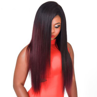 Straight colored ombre hair - PASSION Ombre Burgundy Straight Human Hair Weaves Bundles B J Brazilian Malaysian Peruvian Virgin Hair Colored Remy Human Hair Bundles