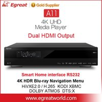 Wholesale Blu Ray Hdd - Egreat A11 dual HDMI outputs UHD 4K Blu-ray HDD Media Player HDR10 Bt.2020 Dolby ATMOS DTS:X