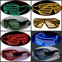ingrosso occhiali multicolori-Moda Occhiali da vista Uomini e donne Performance sul palco El Wire LED Occhiali da vista Carnival Festival Articoli per feste Multicolor 15xz C R