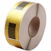 ingrosso carta adesiva acrilica-500PCS / Roll Forme di forme d'arte punte per scolpire a ferro Adesivo Guida Estensione acrilico gel UV Strumenti vassoio di carta d'oro