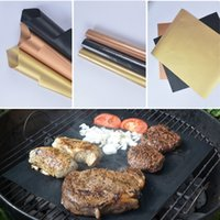 Wholesale Easy Bake Oven Black - Barbecue Grill Mats 2mm Thick Reusable Non-Stick Oven Hotplate Mat 33*40cm Durable BBQ Grill Mat Easy Cleaning PTEF BBQ Grilling Mat