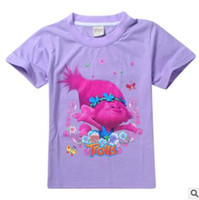 Wholesale Good Costumes For Kids - Kids Trolls T-shirts Girls 10 Styles Girls CottonTees Casual Tops Girls Summer T-shirt The Good Luck Trolls Shirt for Trolls Costumes