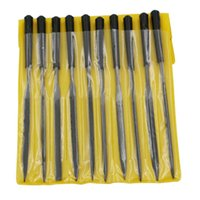 Wholesale Wood Rasp Files - 10pcs set Glass Stone Jewelers Diamond Wood Carving Craft Metal Needles Files Assorted Small Rasp File Suit Model Rasps