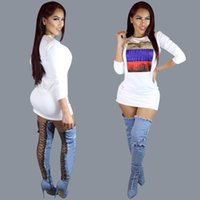 Wholesale Lowest Price Mini Skirt - Goods In Stock Low Price White Printing Dress Bandage Skirt November New Product