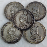 Wholesale east dance - a set of (1891-1902)5pcs German East Africa 1 Rupie Coin Guilelmus II Imperator Brass Craft Ornaments