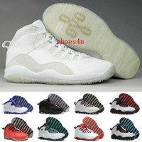 Wholesale Embroidered Male - Air Retros 10s Basketball Shoes Men Athletic Mens Basketball Shoes Cheap retro 10 Sports Shoes With High Quality OVO Male Running Sneakers