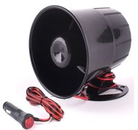 Car Van Truck 6 Tone Loud Security Alarm Siren Horn 12V con enchufe de 150cm