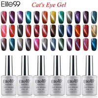 Wholesale color nail lacquer - Wholesale-Elite99 6pcs Color Magnetic UV Cat Eye Gel Nail Polish 12ml With a Free Magnet stick Nails Manicure Art lasting Lacquer