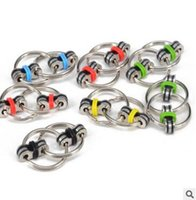 Wholesale Key Chain Funny - Fidget Spinners Kids Alloy Key Ring Fidget Finger Every Day Carry Tip key Ring Chain Buckle Funny Decompression Relieve Stress Toy J338