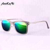 Wholesale Classic Sunglass Styles - AOOKONI AK4210 Unisex Retro UV Protection Style Sunglasses Classic 80's Vintage Design Large Horn Rimmed Outdoor Sports Sunglass UV400