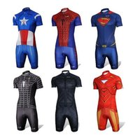Wholesale Ironman Cycling Clothes - 2017 Captain America Batman spiderman cycling jersey ropa ciclismo Ironman cycling clothing maillot ciclismo superman bicycle cycling wear