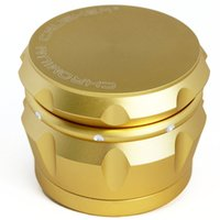 Top Quanlity Metal Chromium Crusher Drum 2.5 pouces 4 pièces Piece Spice Herb Grinder Crusher