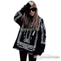 Wholesale Gothic Sweatshirt - Wholesale-Free Shipping 2015 New Fashion KTZ Bigbang HARAJUKU Skull Lovers Sweatshirt Punk Gothic Coat Hoodies M,L,XL RG1309624