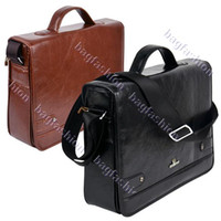 Wholesale Handbag Briefcase Women - Hot Sale-OP-New arrival Men's Leather bag briefcase men Messenger handbag Casual High Quality 9389