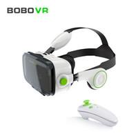 gafas de teatro privado de realidad virtual al por mayor-Al por mayor-BOBOVR Z4 3D Realidad Virtual 3D VR Gafas de teatro privado para 3.5 - 6.0 pulgadas Teléfonos móviles Immersive + controlador Bluetooth