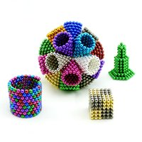 5mm 216PCS Neodymium Magic Cube Magnetic Balls Jouets pour enfants Aimants Puzzle Toys Kids Gifts Spheres Beads Relax déstress Jouet de sport