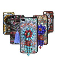 Wholesale Tribal Iphone Casing Wholesale - For iphone 7 6s 6 plus Colorful Tribal totem 3D Printing TPU PC Phone Case Cover For Samsung S7 edge OPPO R9s With Retail packaging