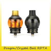 Wholesale Dragon Vape - Authentic Fumytech Dragon Ball RDTA Crystal Ball RDTA With 4ML Drip & Tank 2 in 1 Top Vape Atomiaers 100% Genuine 2249001