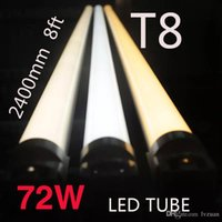 Wholesale T8 High Lumen Led Tubes - Wholesale! New 576PCS SMD double rows 72w LED tube light R17D(Rotable) 8FT 72W fluorescent lamp T8 tube AC85-305V 2400mm 8ft tube high lumen