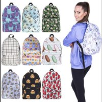 Wholesale Designed Notebooks - Women Unicorn Backpack 3D Printing Travel Softback Bag School Cat Backpack Notebook Travel Rucksack 15 design KKA2829