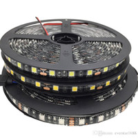 100m Led Strip Negro PCB 5050 RGB Tiras de luz 12V impermeable / no impermeable 5M 300 LEDs 5m / roll En stock