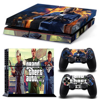 Wholesale Design Skin Sticker - 10 design 1 Set Vinyl PS4 Sticker For Sony Playstation 4 Console+2 controller Skin Sticker For PS4 Skin