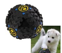 Giggle Ball Pet Dog Tough Treat Trainning Chew Sound Training Toy Dispensador de comida Toy Squeaky