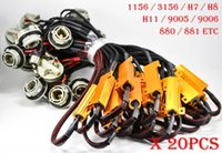 Wholesale wire brake resale online - 20PCS BA15S A W ohm Gold Fuse LED Bulbs Fog Turn Brake Signal Load Resistor Wiring Canbus Error Fix Flash Blink Hyper H7 H8 H11
