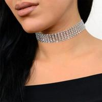 berühmtheit hochzeiten großhandel-Fabrik wholesales Weddings Sparkly Kristallrhinestone-Halsketten-Berühmtheit der Frauen spornte für freies Verschiffen des Mon-Freundingeschenks an