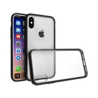 Wholesale Tpu Pc Bumpers - For Iphone 8 Case Hybrid Soft TPU Bumper + Clear PC Back Cover Case For Iphone 8