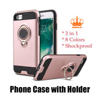 TPU blackberry silver ring - Ring Holder Phone Case Magnetic Suction Bracket Ring Holder Cover Kickstand for Samsung S7 S8 iPhone HUAWEI Moto Oppo Vivo