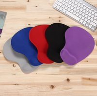 Wholesale New High grade paper card super soft pure silicone protector mouse pad pure color office game special protection wrist proof mouse pad