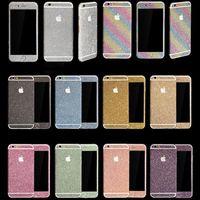 наклейка для футляра для телефона оптовых-Мода Алмаз блеск Bling всего тела наклейка кожи наклейка случаи телефон чехол для iPhone XR XS MAX 7 8 6 S Plus Samsung