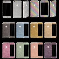 Wholesale Stickers Iphone Fashion - Fashion Diamond Glitter Bling Full Body Decal Skin Sticker Case Cover For iphone Case Cover For iPhone 5 6 7 Plus