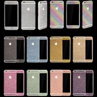 decalque para iphone venda por atacado-Moda diamante glitter bling decalque do corpo inteiro casos de adesivo de pele phone case capa para iphone xr xs max 7 8 6 s plus samsung