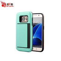 Wholesale Best Cover S3 - Best Phone Cases For S7 S7Edge S8 S8Plus S6 S5 S4 S3 Cell Phone Covers With Card Holder ClipType