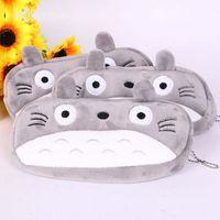 totoro wallets großhandel-Kinder Cartoon Super Kawaii Totoro Plüschtiere Kinder Geschenk 20 cm Plüschtier Schlüsselbund Anhänger Brieftasche Tasche Federmäppchen B001