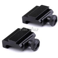 Wholesale Weaver Picatinny Dovetail Adapter - 2pcs 20mm to 11mm Weaver Dovetail Adapter to Picatinny Rail Rifle Scope Mount Hunting