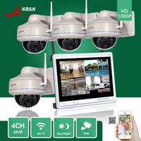 About 1.5kg per each Day Night; Waterproof/Wifi iPhone,Android,ipad ANRAN Plug and Play CCTV P2P 4CH NVR 12 Inch LCD Monitor Vandal-Proof Dome Outdoor 30 IR 1080P IP Wireless WIFI Camera Security System Kits