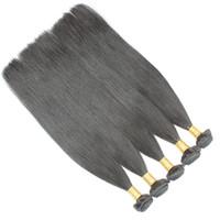Wholesale Straight Brazillian Hair Brown - Brazilian Hair Weave Bundles Best 8A Unprocessed Brazillian Peruvian Indian Malaysian Cambodian Straight Human Hair Extensions Natural Black