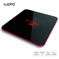 R-BOX Android TV CAJA Amlogic S912 Octa Core 2GB 16GB Android7.1 WIFI BT 4.0 KD17.4 1000M NET Media Player
