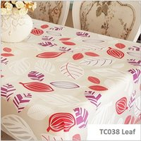 Wholesale High quality PVC pattern table cover waterproof oil proof table cloth none clean none wash antependium Leaf