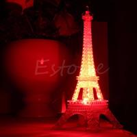 décor tour eiffel achat en gros de-Vente en gros- 1 Pc Belle Tour Eiffel Nuit Lumière Luminaria Mignon LED Art Déco Lampe Bureau Chambre Décor Petite Luminaria Mesa Lighting 2017