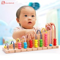 Wholesale wood beads for kids - Wholesale- Kids wooden toys abacus counting beads math learning toy educational toy for children counting beads girls boy gifts