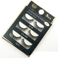 Wholesale Faux Lashes - 3D Mink False Eyelashes 8 Styles Fashion 3 Pairs Handmade Mink Fur False Eyelash 3D Strip Mink Thick Fake Faux lashes Makeup Beauty