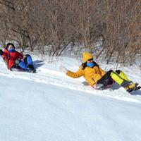 Wholesale Ski Boards - Wholesale- Sports Winter Thicken Plastic Grass Skiing Pad Sled Board Snow Sledge Snowboard