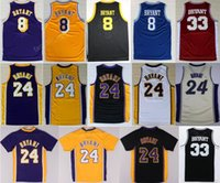 Wholesale Basketball Bryant - Throwback 24 Kobe Bryant Jersey 8 Men High School Lower Merion 33 Bryant Basketball Jerseys Retired Stitching Purple White Red Yellow Black