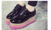 wedges belt 2018 - Platform shoes female single shoes joker is the spring and autumn period and the end of 2016 the new thick belt FuRuiSource